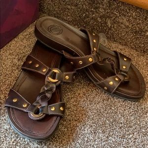 Slip on brown Sandler's by Nurture